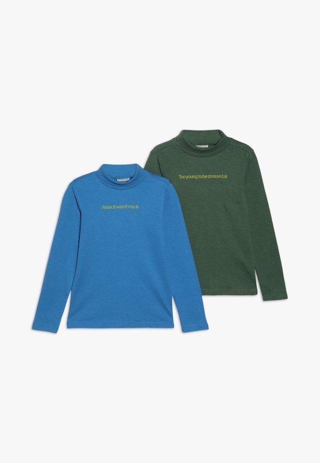 CREW NECK 2 PACK - Top sdlouhým rukávem - blue