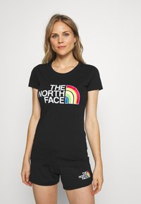 The North Face - RAINBOW TEE - T-shirts med print - black - 0