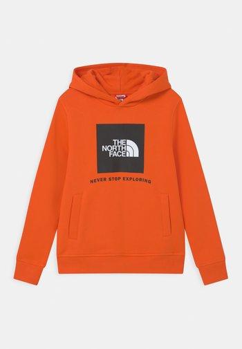 BOX HOODIE UNISEX - Collegepaita - red orange
