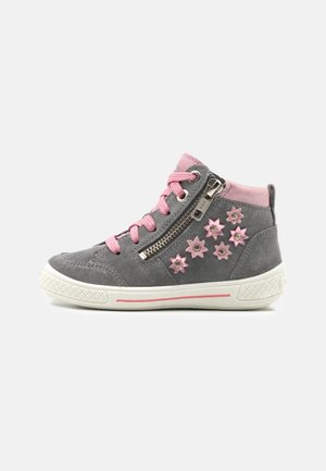 TENSY - High-top trainers - hellgrau/rosa