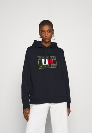 RELAXED FLAG HOODIE - Sweat à capuche - desert sky