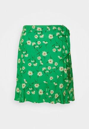 DANIELLA DAISY RUFFLE  - Mini skirt - green pattern