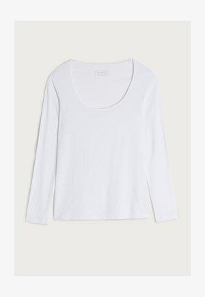 LANGARM-SHIRT AUS MIKROMODAL MIT RUNDAUSSCHNITT - Long sleeved top - ancore grigio