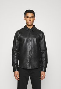 Bruuns Bazaar - BARLEY SHIRT - Košile - black - 0