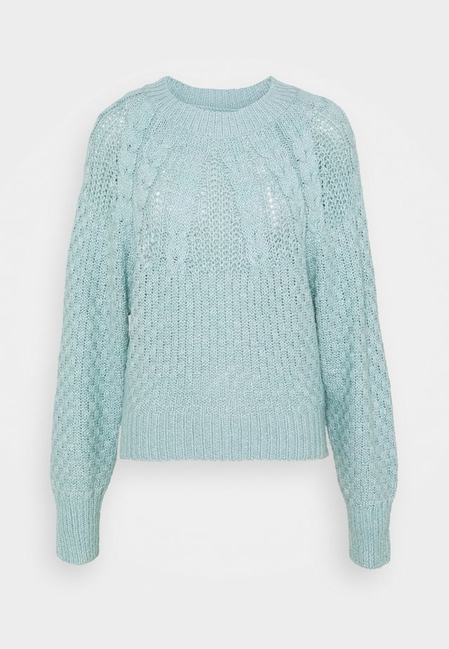 PLACED CABLE RAGLAN - Sweter - mint