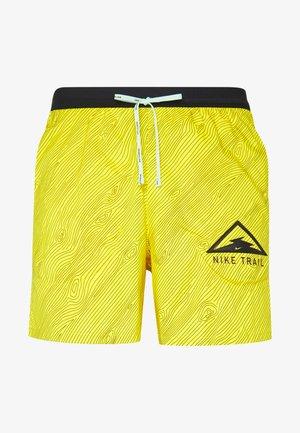 STRIDE TRAIL - Pantalón corto de deporte - speed yellow/black