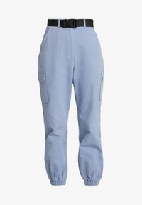 Missguided - BELTED UTILITY COMBAT TROUSER - Cargo trousers - blue - 3