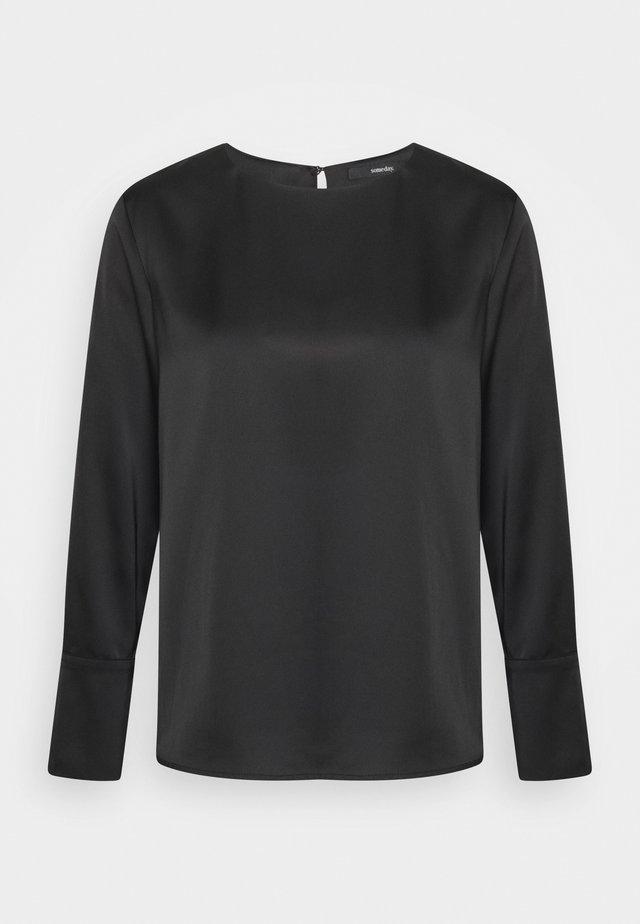 ZATIN - T-shirt à manches longues - black