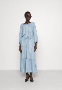Lauren Ralph Lauren - VAETELL-LONG SLEEVE-DAY DRESS - Maxi dress - indigo mist wash - 1