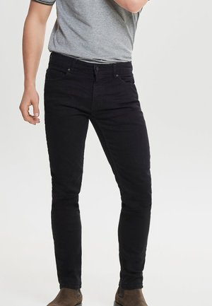 LOOM - Jeansy Slim Fit - black denim