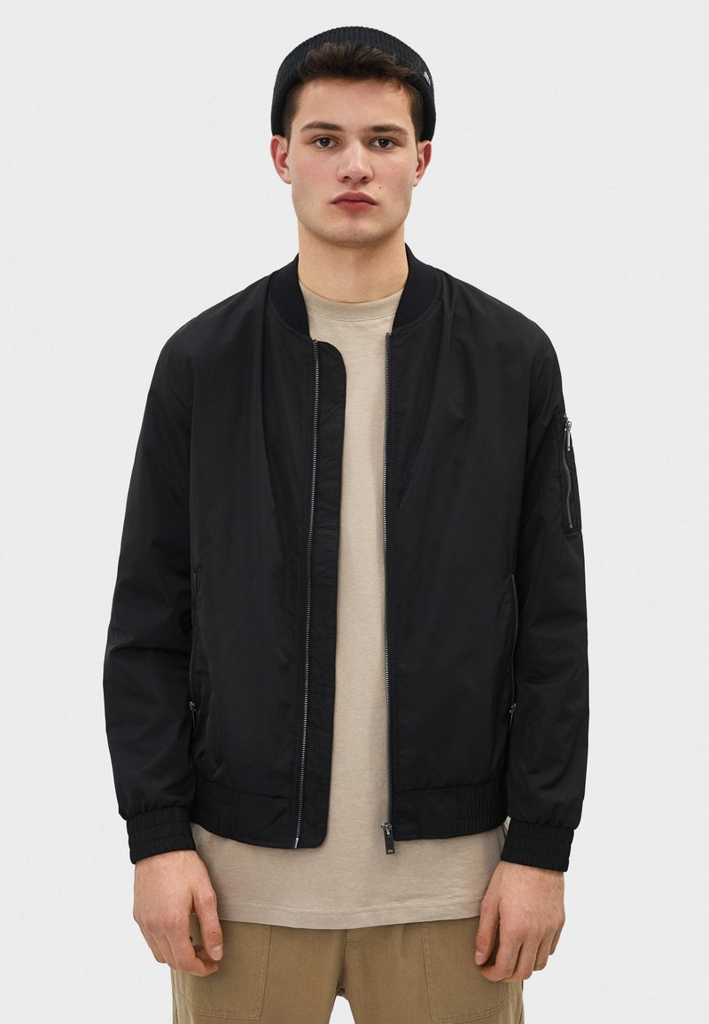 Bershka - Bomber Jacket - black