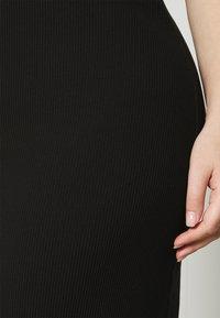 Selected Femme Curve - SLFNANNA STRAP DRESS - Jersey dress - black - 5