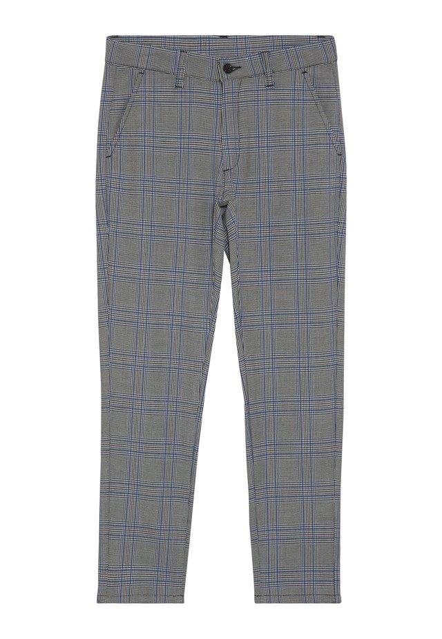 DUDE CHECK - Suit trousers - blue