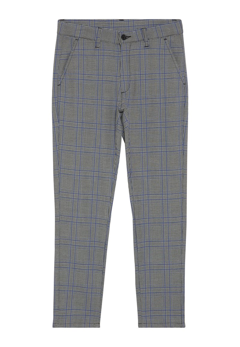 Grunt - DUDE CHECK - Suit trousers - blue