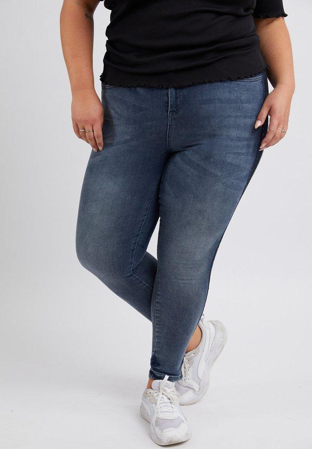 GLITTERY - Slim fit jeans - mid blue