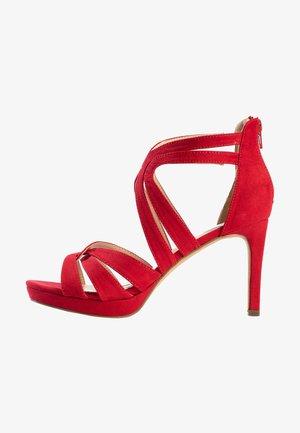 CHERRY - Højhælede sandaletter / Højhælede sandaler - red