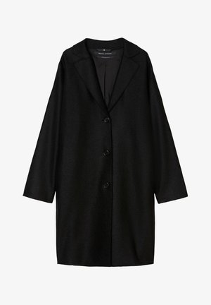 SINGLE BREASTED - Classic coat - black