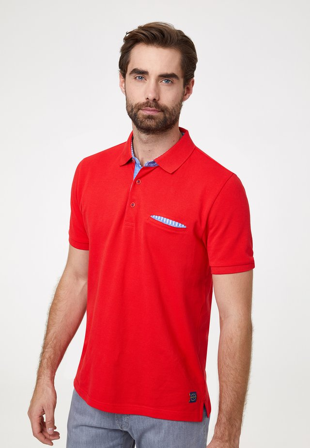 MODERN FIT PIQUÉ AIRTOUCH - Polo - rot
