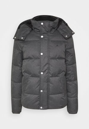QUILTED HOODED JACKET - Winter jacket - grey