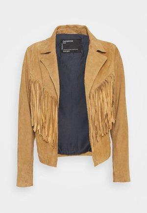 JANIS - Leather jacket - tan