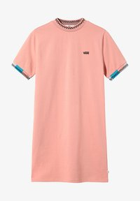 Vans - WM HI ROLLER TRI CHECK DRESS - Jersey dress - rose dawn - 2