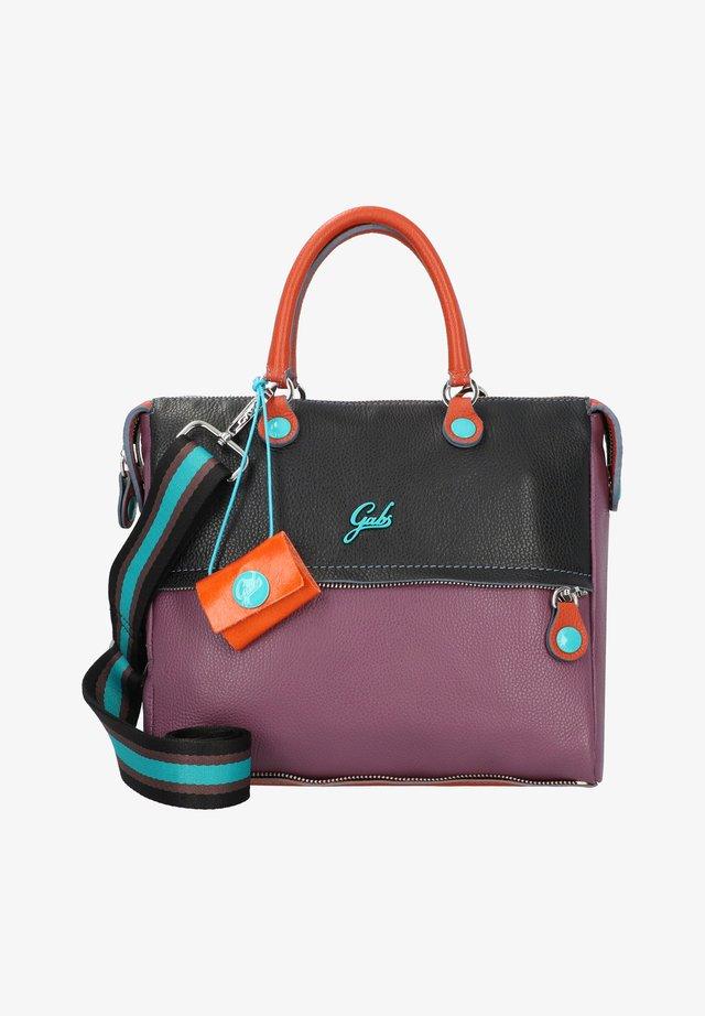 Handbag - black-tangerine-plum