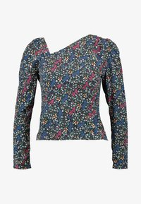 Fashion Union Petite - GEMMA BLOUSE WITH DIAGNOL NECKLINE  - Blouse - berry - 3