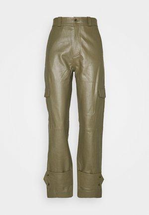 DUNDER TROUSER - Spodnie materiałowe - moss green