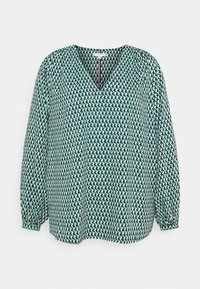 Tommy Hilfiger Curve - POPLIN BLOUSE - Blouse - court side geo/primary green - 0