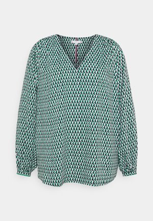 POPLIN BLOUSE - Blouse - court side geo/primary green
