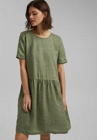 Esprit - DRESS - Day dress - light khaki - 0