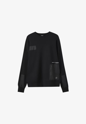 Sweatshirt - mottled black