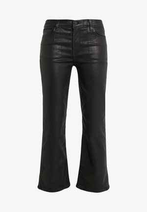 SELENA MID RISE CROP - Trousers - galactic black