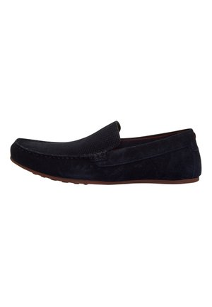 TAN PERFORATED DRIVERS - Moccasins - blue