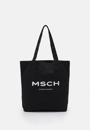 LOGO SHOPPER - Shopping bag - black/egret