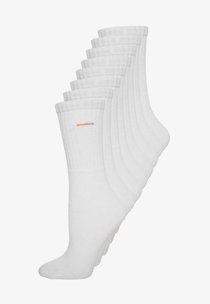 8 PACK - Sports socks - white
