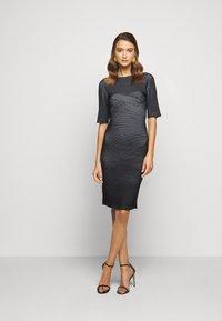 Hervé Léger - PLAITED TRANSFER BUSTIER DETAIL DRESS - Jumper dress - black alabaster - 1