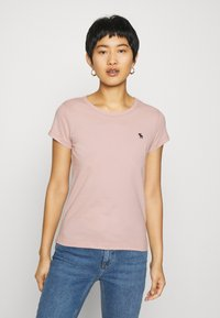 Abercrombie & Fitch - 5 PACK - T-shirt basic - white/black/pink/olive/navy - 4