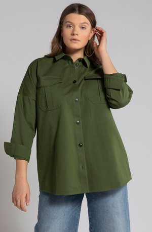 Button-down blouse - hell oliv