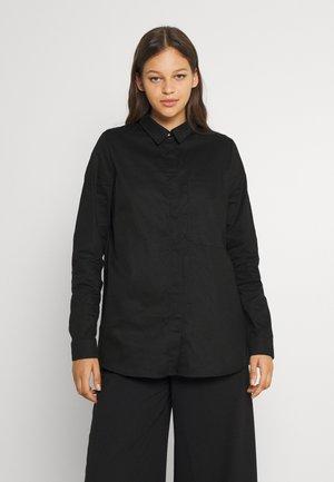 NMALAMO   - Button-down blouse - black