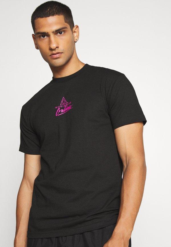 HUF FORBIDDEN DOMAIN TEE - T-shirt z nadrukiem - black/czarny Odzież Męska FIPT