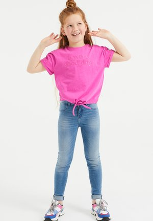 Print T-shirt - fuchsia
