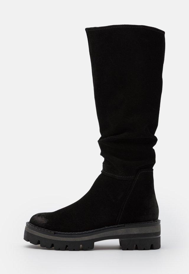 BOOTS  - Platåstøvler - black