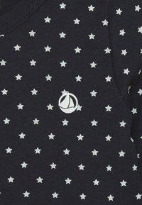 Petit Bateau - TEE 2 PACK - Long sleeved top - dark blue/offwhite - 3