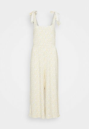 PRINTED COZY JUMPSUIT - Beach accessory - yellow