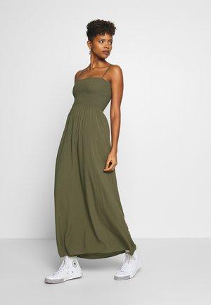 ONLNOVA LIFE SMOCK DRESS SOLID - Maxi-jurk - grape leaf