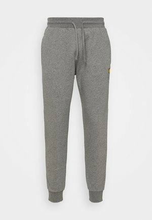 WITH CONTRAST PIPING - Jogginghose - mid grey marl