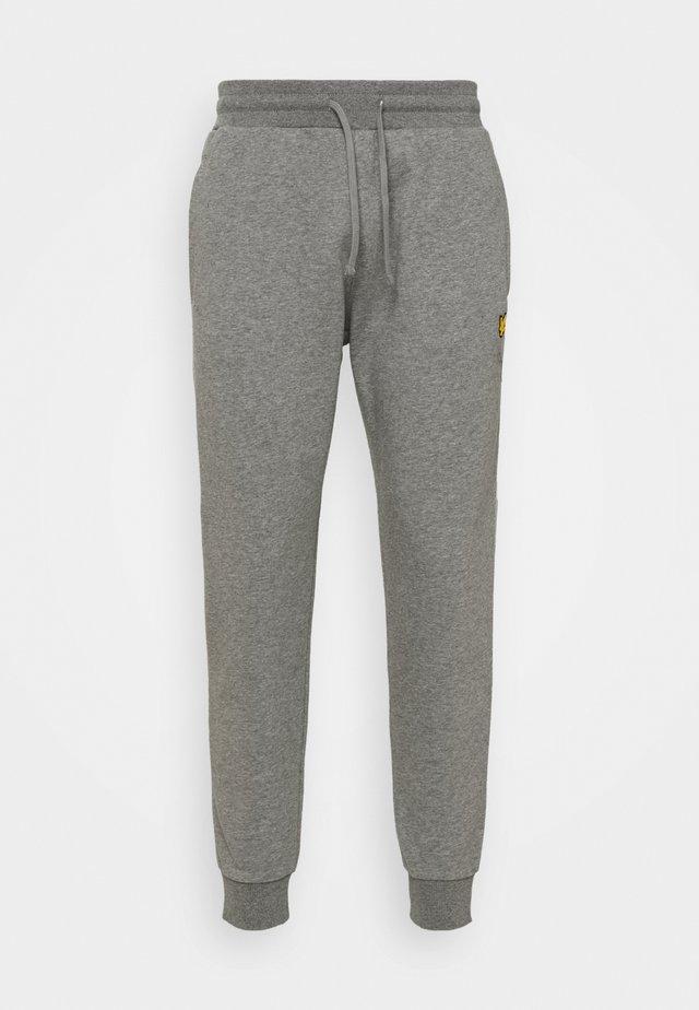 WITH CONTRAST PIPING - Pantaloni sportivi - mid grey marl