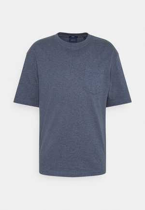 LOCKER LOOP POCKET - Basic T-shirt - indigoblue melange