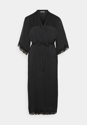 ARIANA SATIN KIMONO LONG - Dressing gown - black